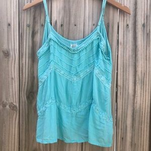 VOLCOM WOMANS TEAL TANK SIZE LARGE
